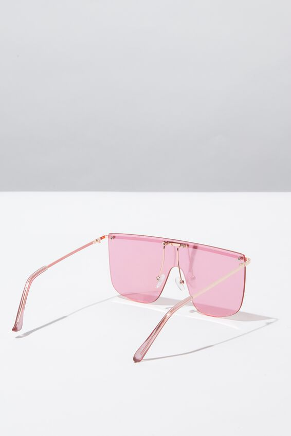 Kourtney Shield Sunglasses, ROSE GOLD/PINK