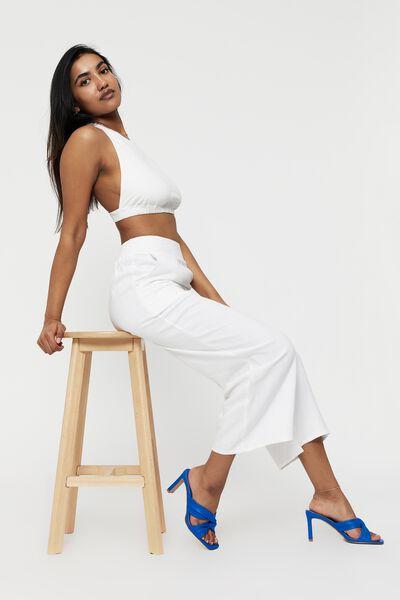 Tamryn Wide Leg Pant, WHITE