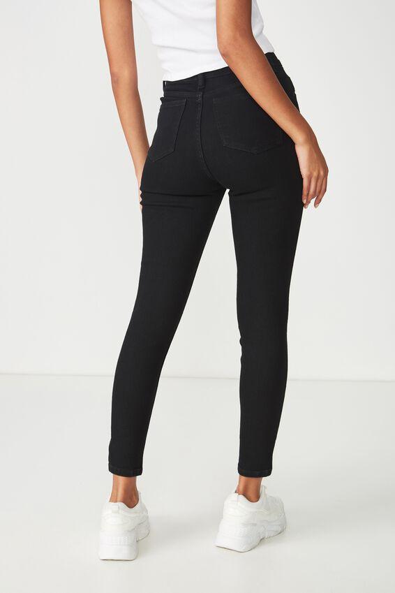Skinny Premium Ankle Grazer Jean, BLACK