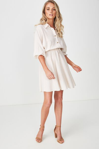 Indie Shirt Dress, ECRU MARLE