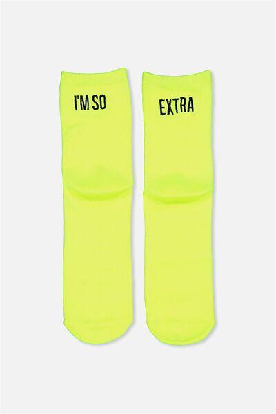 Fun Times Socks, NEON/EXTRA