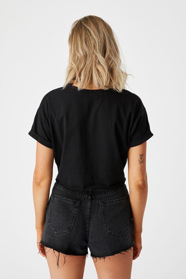 Ciara Crop T Shirt, BLACK