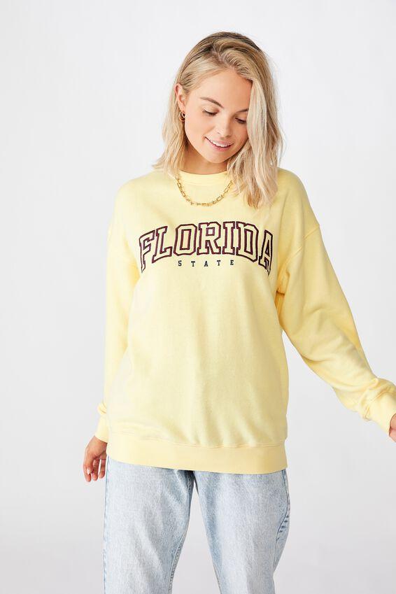 Florida Crew Neck Jumper, BANANA YELLLOW/FLORIDA