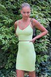 Mina Tube Skirt Co Ord, PINE LIME