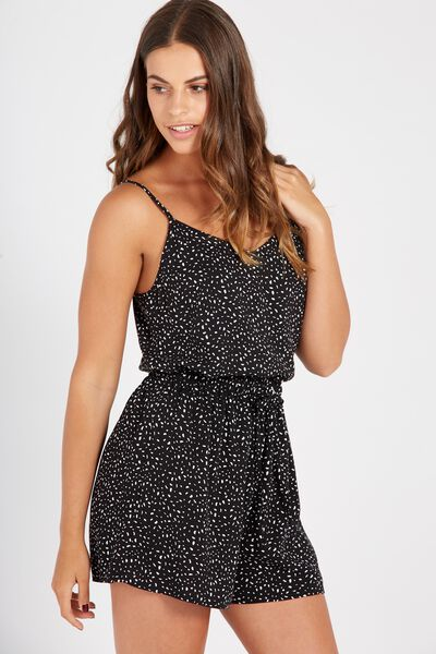 High Waisted Relaxed Short, DOT DITZY