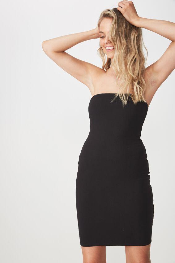 Boobtube Mini Dress, BLACK