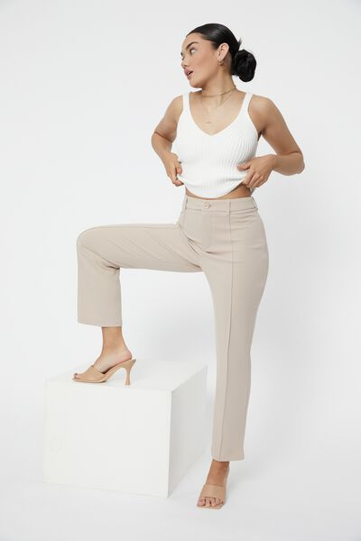 Tammy Knit Cami Top, WHITE