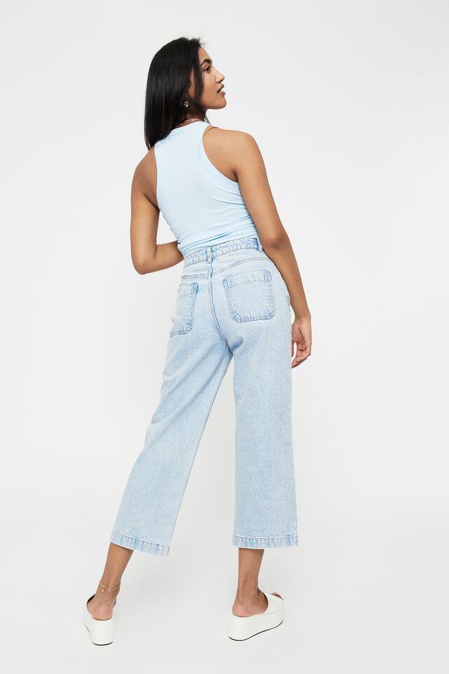 Wide Leg Jean, FADED CLOUD BLUE