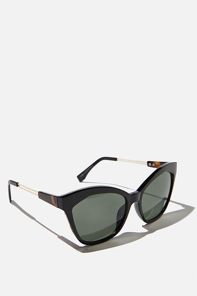 Mabel Cateye Sunglasses, BLACK