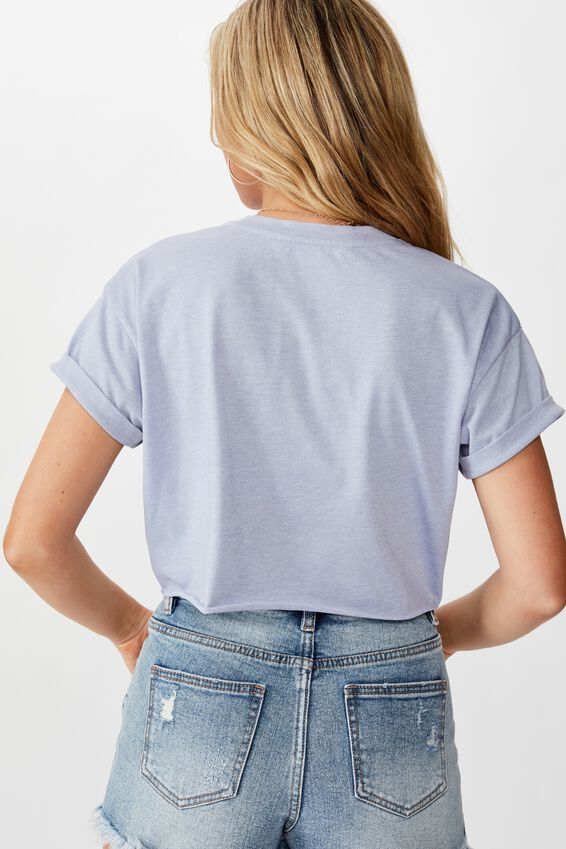 Tamara Graphic Crop Tee, BLUE RIDER MARLE/PALM SPRINGS