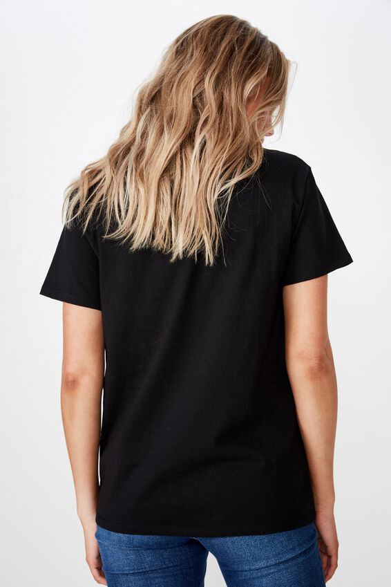 Lola Printed Longline Tee, BLACK/ATLANTIC CITY