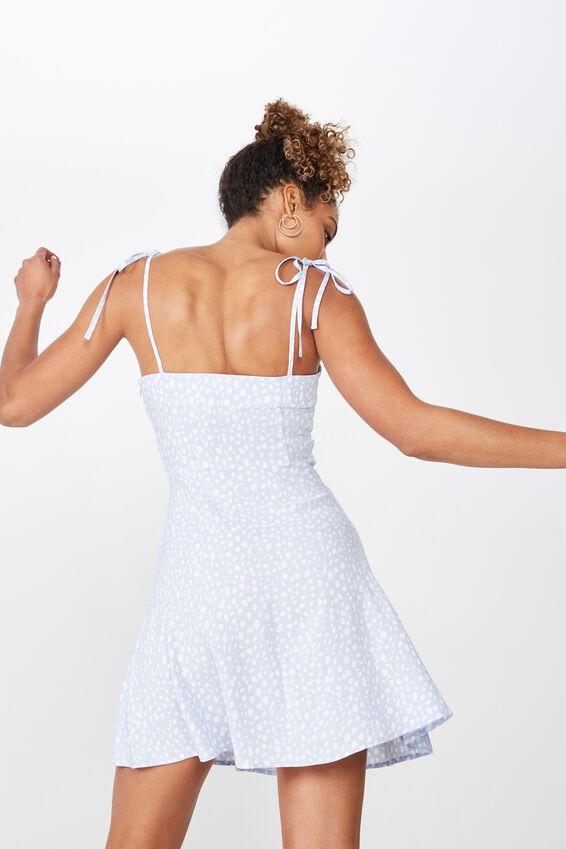 Rylie Tie Shoulder Skater Dress, SPOT LEOPARD
