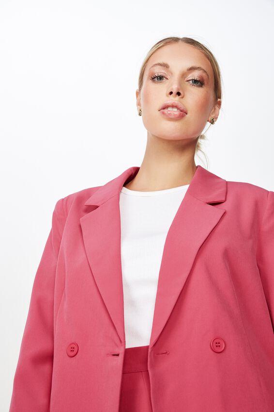 Tori Blazer Jacket, HIBISCUS PINK