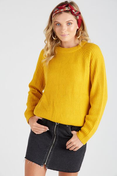 Lucy Crew Knit Sweater, MELLOW YELLOW