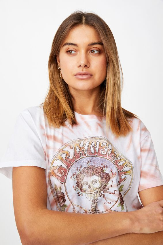 Skeleton Roses Tee, ROSE QUARTZ/LCN WMG GRATEFUL DEAD SKELETON ROSES