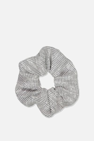Knit Scrunchie, GREY