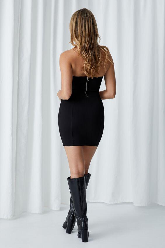 Dylan Strapless Mini Dress, BLACK