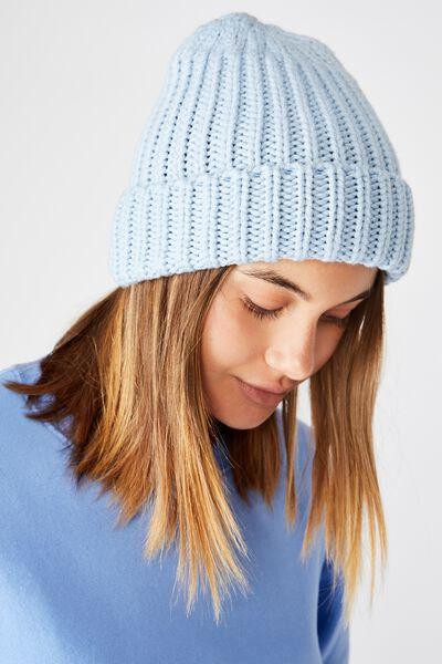 Knit Beanie, BABY BLUE