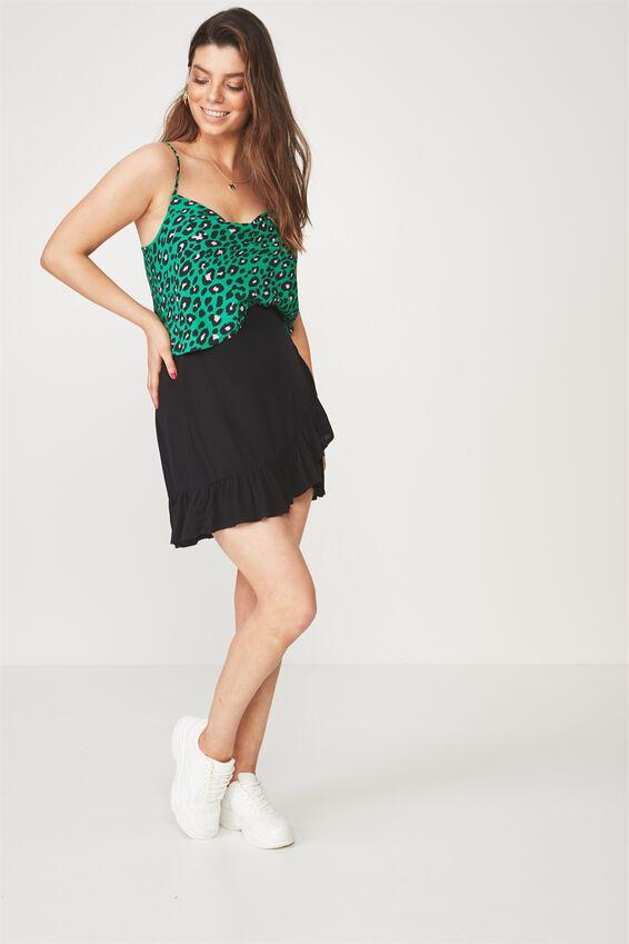 Naomi Cowl Neck Top, NEUE LEOPARD GREEN