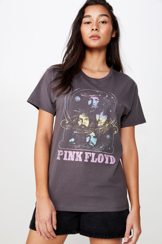 Kendall Printed T Shirt, GRANITE GREY PINK FLOYD