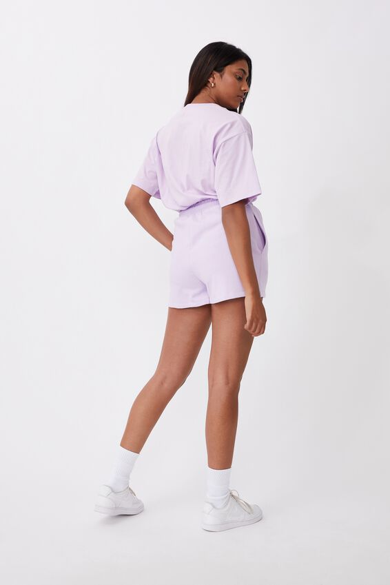 Addison Drawstring Tee, ORCHID BLOOM/VENICE BEACH