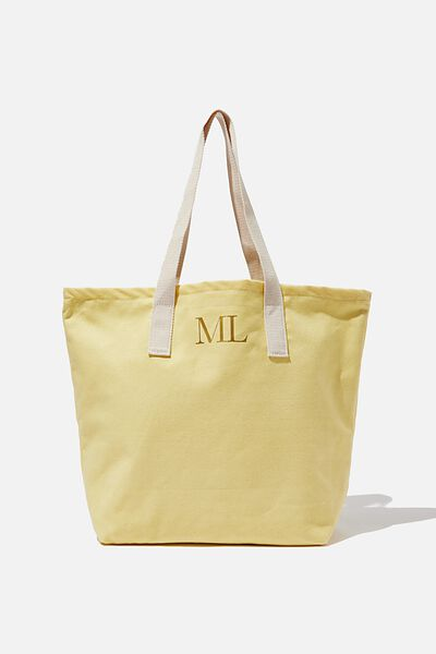 Customised Canvas Tote Bag, PLAIN YELLOW MALIBU