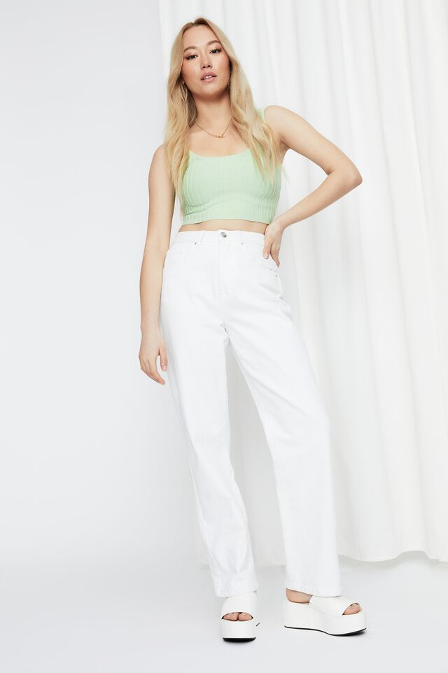 Giselle Square Neck Crop Top, NEO GREEN