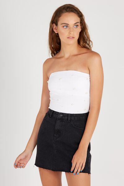Blair Aline Denim Skirt, WASHED BLACK