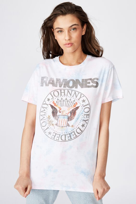 The Kendall Graphic Tee, SOFT TIE DYE/RAMONES EMBLEM