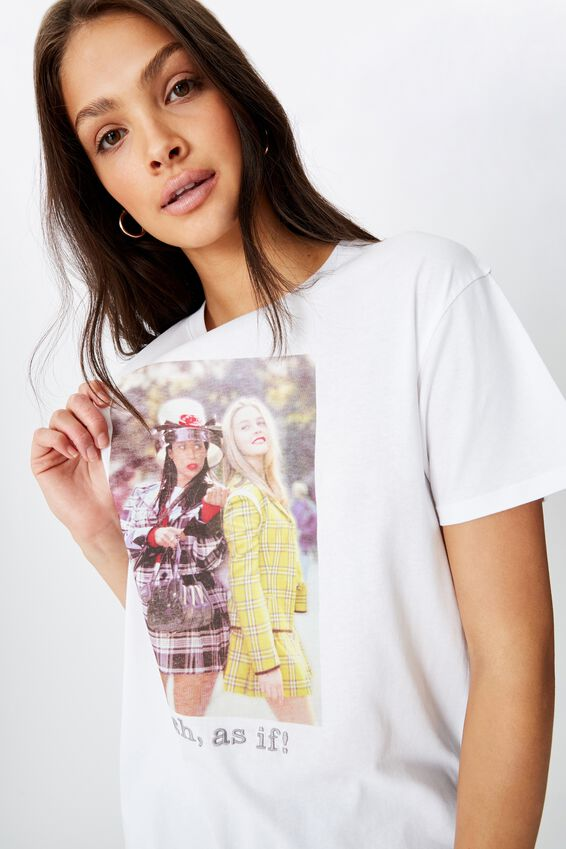 Clueless Tee, WHITE/LCN PAR CLUELESS AS IF