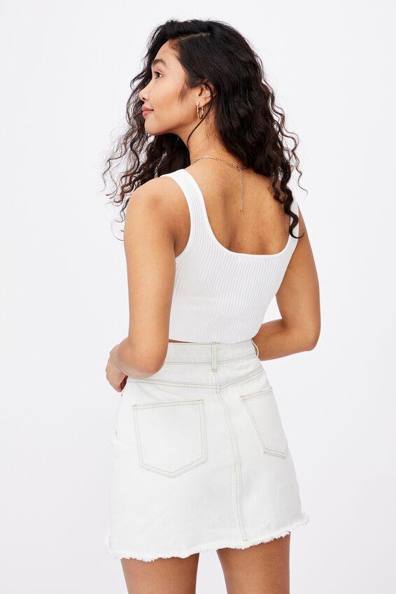 Ella Denim A-Line Skirt, 70S VINTAGE BLEACH