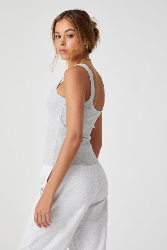 Abby Scoop Neck Tank, GREY MARLE