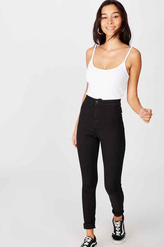 Long Leg Super Skinny Sky High Jean, TRUE BLACK