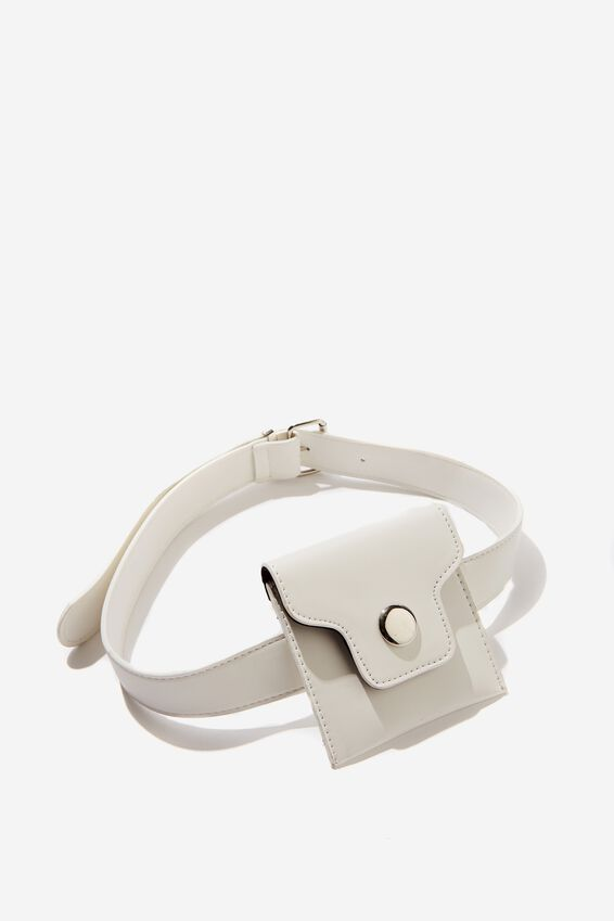 Mini Belt Bag, WHITE