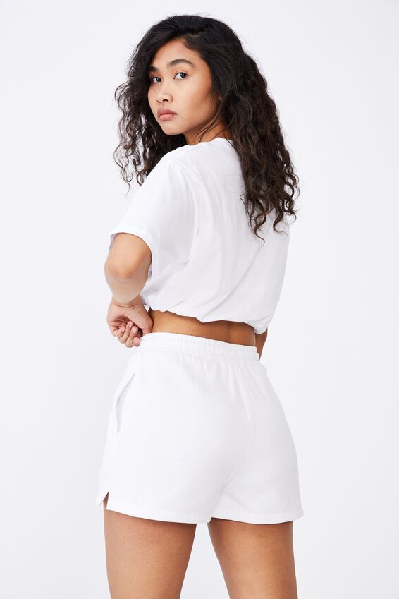 Addison Drawstring Tee, WHITE/HAMPTONS