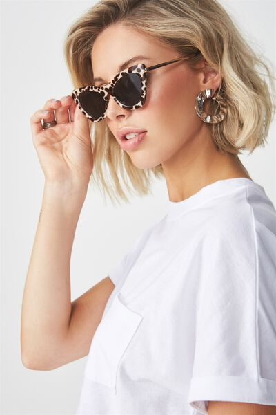 Posh Catty Sunglasses, LEOPARD/BLACK SMOKE