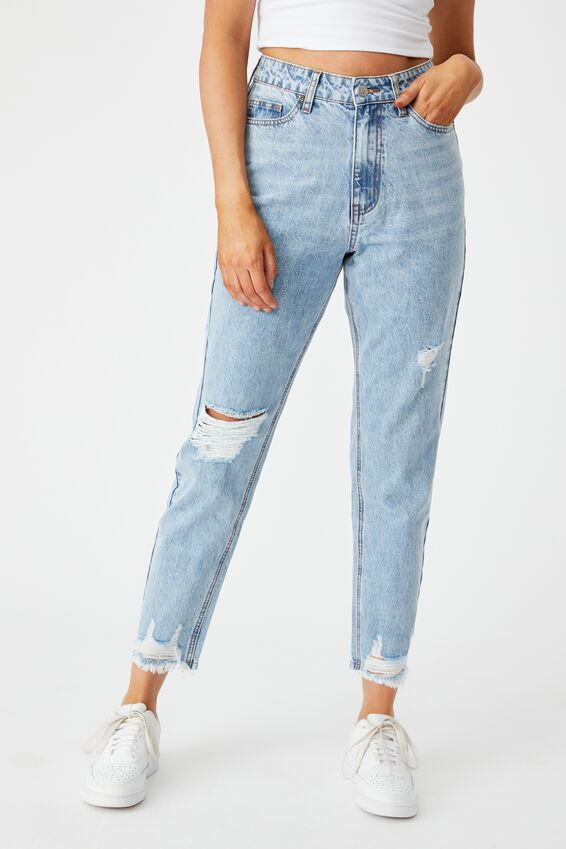 The Mom Ripped Jean, TRANQUIL BLUE RIPPED