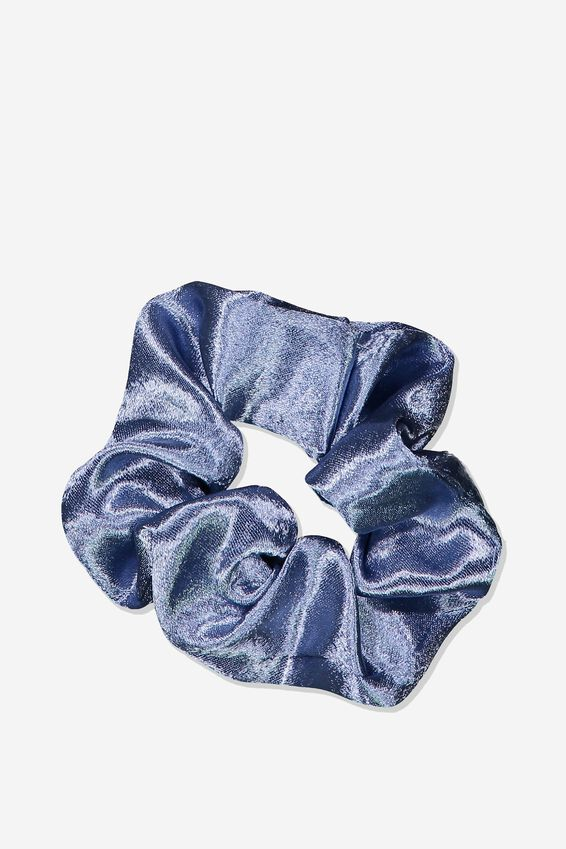 Satin Scrunchie, STORM BLUE
