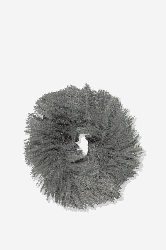 Fluffy Scrunchie, GREY