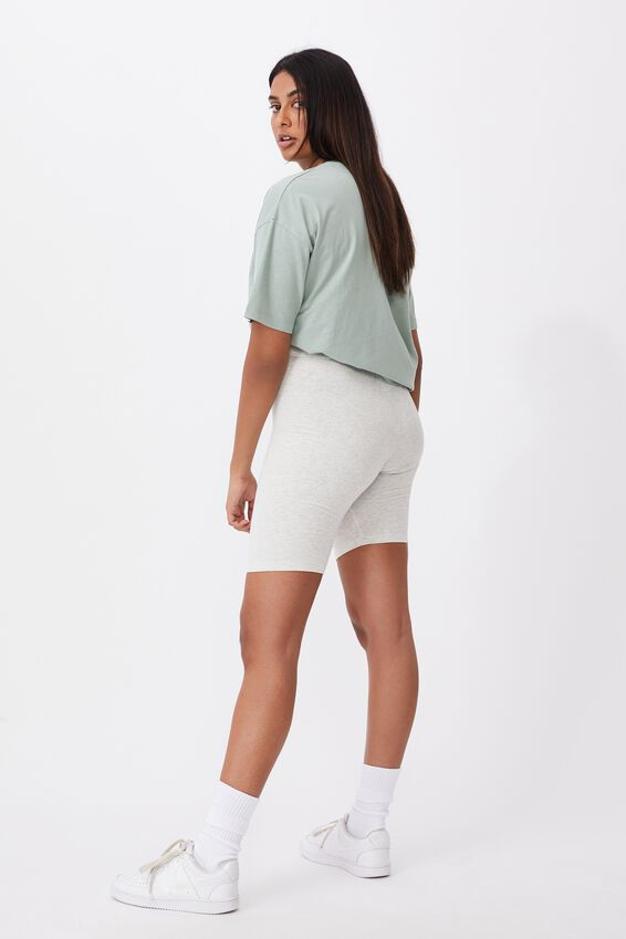 Mimi Bike Short, LIGHT GREY MARLE