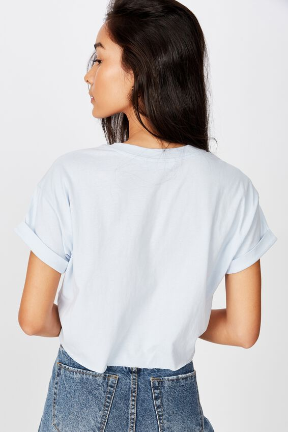 Tamara Graphic Crop Tee, NEW DAWN BLUE/BE IN THE MOMENT