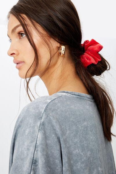 Brushed Scrunchie, RED