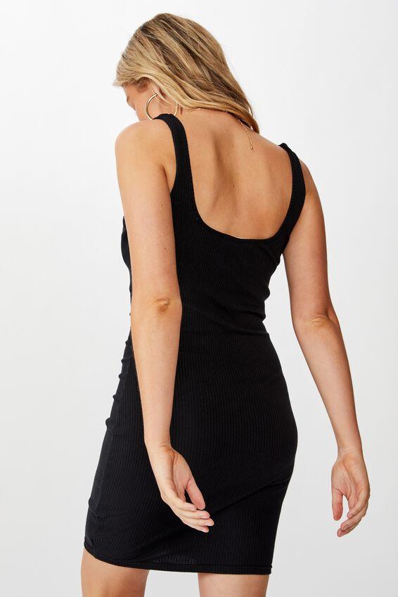 Ellie Tank Mini Dress, BLACK