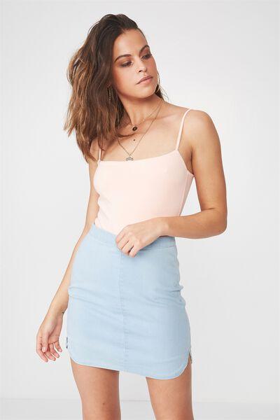 The Tyra Denim Skirt, SUPER BLEACH