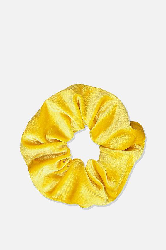Scrunchie, PLUSH SUNSHINE YELLOW