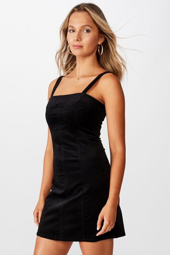 Sammie Wide Strap Dress, BLACK