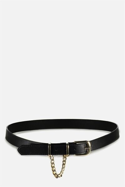 Loop Chain Belt, BLACK/GOLD