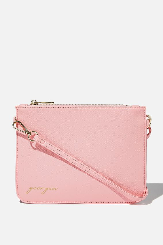 Personalised Nova Clutch, CHIC PINK TEXTURE
