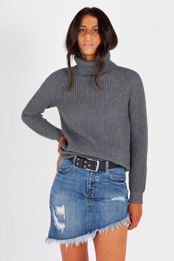 Hannah Roll Neck Knit | Tuggl