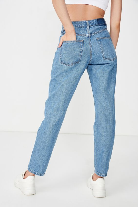 Mom Denim Jean, PRETTY INDIGO